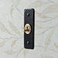 1 Gang Brass Dolly Architrave Switch Matt Black Hammered Plate