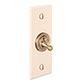 1 Gang Brass Dolly Architrave Switch Plain Ivory Bevelled Plate