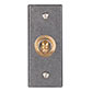 1 Gang Dolly Architrave Switch in Brass with Polished Bevelled Plate