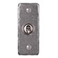 1 Gang Steel Dolly Architrave Switch Polished Hammered Plate