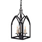 Barnham Lantern with Three Lights in Matt Black