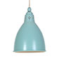 Barbican Pendant Light in Duck Egg Blue (inside Ivory)