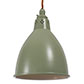 Barbican Pendant Light in Shaker Green (inside Ivory)