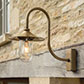 Granary Light in Antiqued Brass