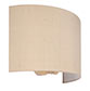 Thorpe Wall Light in Plain Ivory