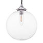 Holborn Glass Pendant Light in Nickel