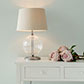 Harleston Table Lamp in Polished with Fluted Glass