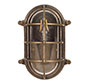 Bulkhead Outdoor Light in Antiqued Brass