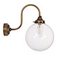 Compton Wall Light in Antiqued Brass