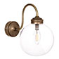 Compton Bathroom/Outdoor Wall Light in Antiqued Brass