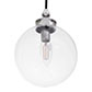 Compton Bathroom Pendant Light in Nickel