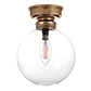 Compton Flush Fitting Light in Antiqued Brass