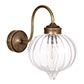 Mia Bathroom/Outdoor Wall Light in Antiqued Brass