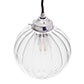Putney Glass Pendant Light in Nickel
