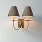 Double Smuggler's Wall Light in Antiqued Brass