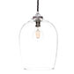 Walcot Glass Pendant Light in Nickel