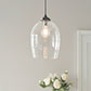 Walcot Glass Pendant Light in Polished
