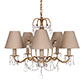 Devonshire Pendant Light in Old Gold