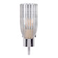 Single Morston Light in Nickel Plate, Fluted Glass