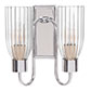 Double Morston Light in Nickel Plate, Fluted Glass