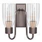 Double Morston Wall Light in Polished with Fluted Glass