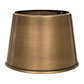 20cm Medium French Drum Shade in Antiqued Brass
