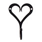 Forged Heart Hook in Matt Black