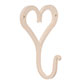 Forged Heart Hook in Plain Ivory