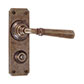 Chester Handle, Ilkley Privacy Plate, Antiqued Brass