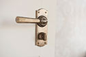 Chester Handle, Nowton Privacy Plate, AntiquedBrass