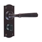 Chester Handle, Nowton Privacy Plate, Matt Black