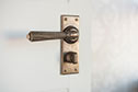 Bromley Handle, Bristol Privacy Plate, Antiqued Brass