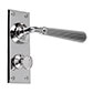 Bromley Handle, Bristol Privacy Plate, Nickel