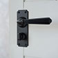 Bromley Handle, Ilkley Privacy Plate, Matt Black
