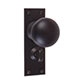 Holkham Door Knob, Bristol Privacy Plate, Beeswax