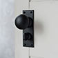 Holkham Door Knob, Bristol Privacy Plate, Matt Black