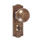 Holkham Door Knob, Nowton Privacy Plate, Antiqued Brass