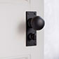 Holkham Door Knob, Ripley Privacy Plate, Beeswax