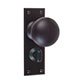 Holkham Door Knob, Ripley Privacy Plate, Matt Black