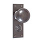 Holkham Door Knob, Ripley Privacy Plate, Polished