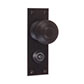 Reeded Door Knob, Bristol Privacy Plate, Beeswax