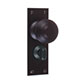 Reeded Door Knob, Bristol Privacy Plate, MattBlack