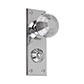 Reeded Door Knob, Ripley Privacy Plate, Nickel