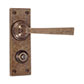 Manson Handle, Bristol Privacy Plate, Antiqued Brass