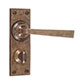 Manson Handle, Ripley Privacy Plate, AntiquedBrass