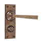 Manson Handle, Ripley Privacy Plate, Antiqued Brass