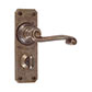 Regency Handle, Ilkley Privacy Plate, Antiqued Brass