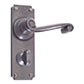 Regency Handle, Ilkley Privacy Plate, Polished