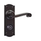 Regency Handle, Nowton Privacy Plate, Matt Black