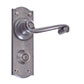 Regency Handle, Nowton Privacy Plate, Polished